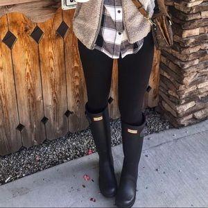 Hunter original tall black matte rain boot